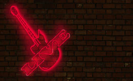 Neon di musica in diretta Fotografie Stock Libere da Diritti