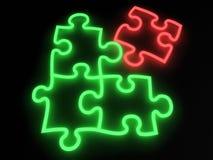 Neon di puzzle Fotografie Stock