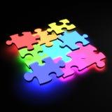 Neon di puzzle Immagini Stock Libere da Diritti