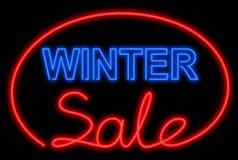 Neon di vendita di inverno Immagini Stock