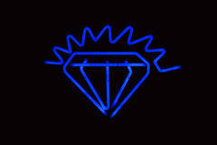 Neon diamond Royalty Free Stock Photography
