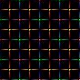 Neon diamonds. Pattern or background of multicolored neon stars Stock Photo
