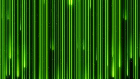 Neon die van de de kleurenregen van de voorraadlengte het mooie digitale de animatie4k lijn verlichten van het ontwerpconcept stock footage