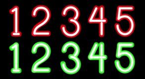 Neon digits Stock Photo