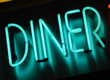 Neon diner sign Royalty Free Stock Photography