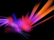 Neon disco rays Stock Photo