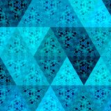 Neon ditsy mosaic of bright blue triangles vector illustration