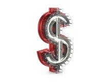 Neon dollar symbol Royalty Free Stock Image