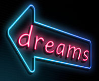 Neon dreams concept. Royalty Free Stock Images