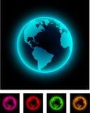 Neon earth. Stock Photography