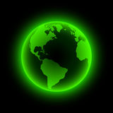 Neon earth. Stock Images