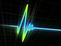 Neon ECG Stock Images