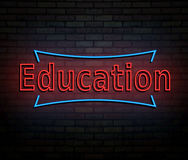 Neon education concept. Stock Images