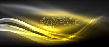Neon elegant smooth wave lines digital abstract background. Neon elegant smooth wave lines vector digital abstract background vector illustration