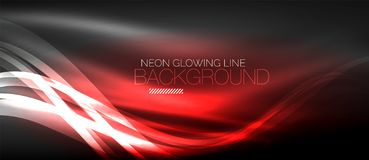 Neon elegant smooth wave lines digital abstract background. Neon elegant smooth wave lines vector digital abstract background Royalty Free Illustration