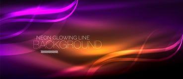 Neon purple elegant smooth wave lines digital abstract background. Neon elegant smooth wave lines vector digital abstract background vector illustration