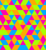 Neon Equal Side Triangle Seamless background. A Neon Equal Side Triangle Seamless background Stock Images