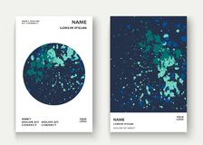 Neon explosion paint splatter artistic cover frame design. Decor Stock Photos