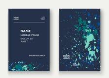 Neon explosion paint splatter artistic cover frame design. Decor Stock Image
