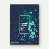Neon explosion paint splatter artistic cover frame design. Decor Royalty Free Stock Images