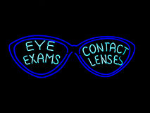 Neon Eyeglasses Sign Royalty Free Stock Image