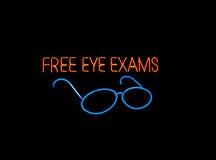 Neon Eyeglasses Sign Royalty Free Stock Photos