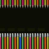 Neon färgade blyertspennor Fotografering för Bildbyråer