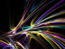Neon färgar dynamiskt abstrakt begrepp stock illustrationer