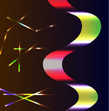 Neon fantasy background. Background with a neon ribbon and plasma rays Stock Photography