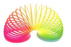 Neon farbige Feder Lizenzfreies Stockfoto