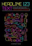 Neon-Farbschablonen-Design Stockbilder