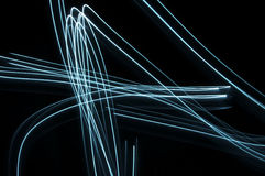 Neon fibres background stock photography