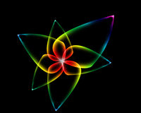 Neon Flower. A neon, colorfull, magical looking flower good for a background royalty free illustration