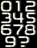Neon font. This font is made in the style of luminous signs Stock Photography