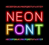 Neon Font vector illustration