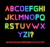 Neon Font Stock Photos