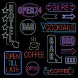 Neon Font Set Royalty Free Stock Photo