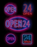 Neon font set Royalty Free Stock Photography