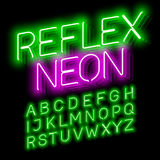 Neon font Stock Images