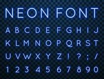 Neon, fonte di vettore illustrazione vettoriale