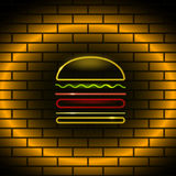 Neon food icon Vector illustration Stock Images