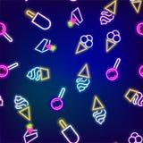 Neon food seamless pattern Stock Photo