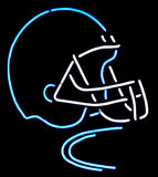 Neon football helmet Royalty Free Stock Photography