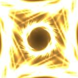 Neon frame flower Stock Photo
