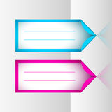 Neon frame stickers Royalty Free Stock Image
