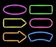 Neon frames Stock Photography