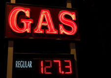 Neon Gas Sign Royalty Free Stock Photography