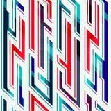 Neon geometric seamless pattern Stock Photography