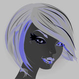 Neon girl Royalty Free Stock Photos