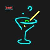 Neon Glass Symbol Stock Image